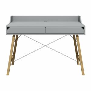 Sivý písací stôl Lotta BELLAMY, šírka 120 cm