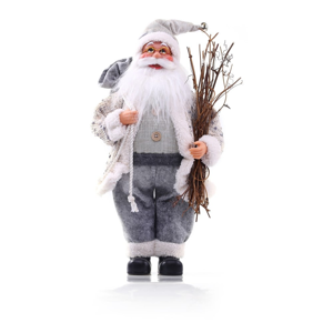 Sivá vianočná soška DecoKing Santa