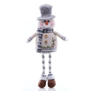 Vianočná soška v tvare snehuliaka v bielej striebornej farbe DecoKing Nevado