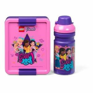 Set fľaše na vodu a boxu na desiatu LEGO® Friends Girls Rock