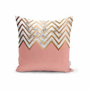 Obliečka na vankúš Minimalist Cushion Covers Polčas Pink Zigzag, 45 x 45 cm