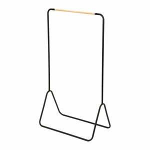 Čierny stojan na oblečenie Compactor Elias Clother Hanger, výška 145 cm
