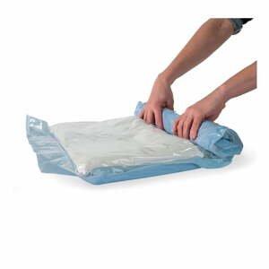 Sada 6 zrolovateľných vakuových úložných obalov na oblečenie Compactor Roll Up Vacuum Bags, 50 x 35 cm