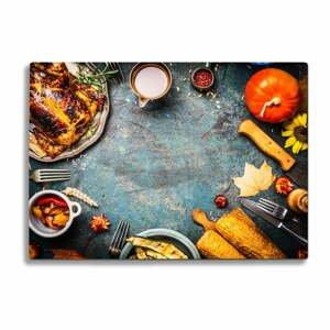 Sklenená doska na krájanie Insigne thanksgiving