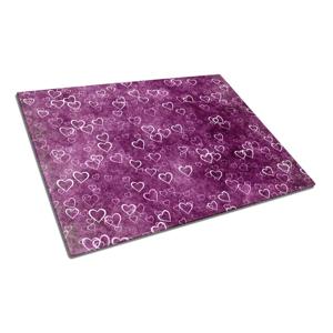 Sklenená doska na krájanie Insigne Purple Love