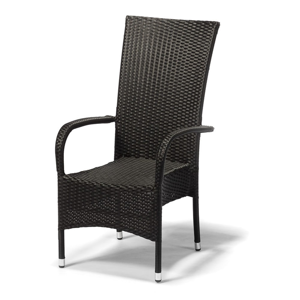 Záhradná stolička Timpana Frenchie v antracitovosivej farbe, výška 107 cm