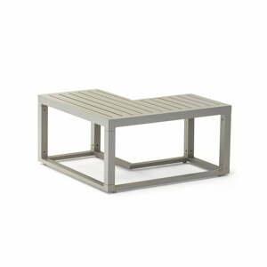 Sivý hliníkový konferenčný záhradný stolík Ezeis Spring L