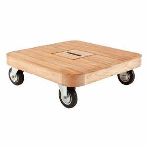 Nízky záhradný stolík z tíkového dreva na kolieskach Ezeis Resort