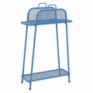 Modrá kovová polica na balkón ADDU MWH, výška 105,5 cm