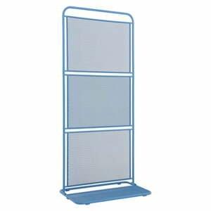 Modrá kovová zástena na balkón ADDU MWH, 180 x 80 cm
