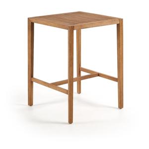 Príručný stolík z eukalyptového dreva La Forma Cybille, 80 x 80 cm