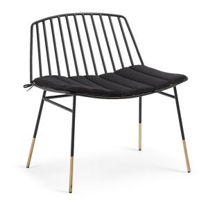 Čierna stolička La Forma Siena