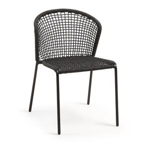 Čierna stolička La Forma Mathew