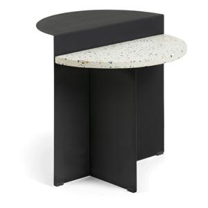 Čierny príručný stolík La Forma Cleary