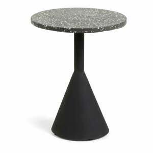 Čierny príručný stolík La Forma Melano