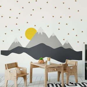 Nástenná samolepka Ambiance Giant Kid Sticker Scandinavian Mountains Nordika