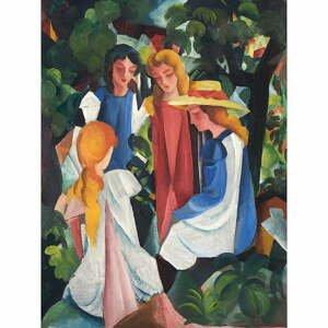 Reprodukcia obrazu August Macke - Four Girls, 40×60 cm