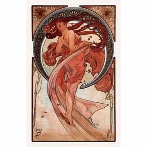 Reprodukcia obrazu Alfons Mucha - Dance, 40×60 cm
