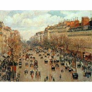 Reprodukcia obrazu Camille Pissarro - Boulevard Montmartre Eremitage, 90×70 cm