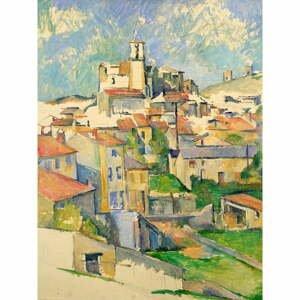 Reprodukcia obrazu Paul Cézanne - Gardanne, 60×80 cm