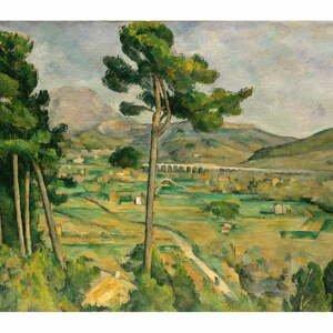 Reprodukcia obrazu Paul Cézanne - Mont Sainte, 80×70 cm