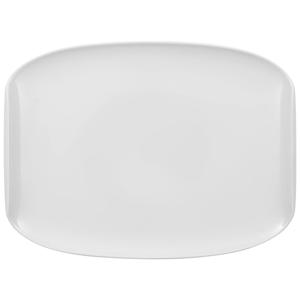 Biely hranatý tanier z porcelánu Villeroy & Boch Urban Nature, 32 x 24,5 cm