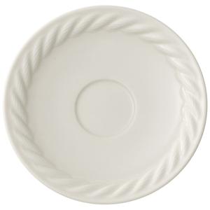 Biely porcelánový tanierik pod espresso Villeroy & Boch Montauk, 12 cm