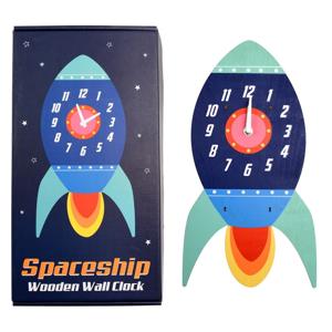 Detské nástenné hodiny z dreva Rex London Spaceship