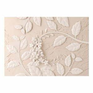 Veľkoformátová tapeta Bimago Beige Paper Flowers, 400 x 280 cm
