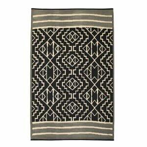 Čierny obojstranný vonkajší koberec z recyklovaného plastu Fab Hab Kilimanjaro Black, 120 x 180 cm