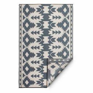 Sivý obojstranný vonkajší koberec z recyklovaného plastu Fab Hab Miramar Gray, 120 x 180 cm