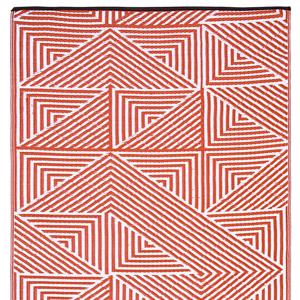 Oranžový obojstranný vonkajší koberec z recyklovaného plastu Fab Hab Tokyo Burnt Orange, 120 x 180 cm