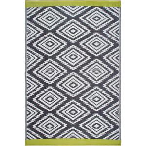 Sivý obojstranný vonkajší koberec z recyklovaného plastu Fab Hab Valencia Grey, 150 x 240 cm