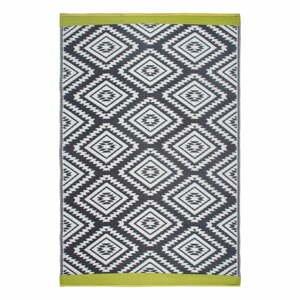 Sivý obojstranný vonkajší koberec z recyklovaného plastu Fab Hab Valencia Grey, 90 x 150 cm