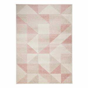 Ružový koberec Flair Rugs Urban Triangle, 133 x 185 cm