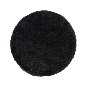 Čierny koberec Flair Rugs Sparks, ⌀ 133 cm