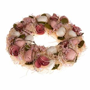 Závesný veniec s umelými kvetmi Dakls Mira, ⌀ 31 cm