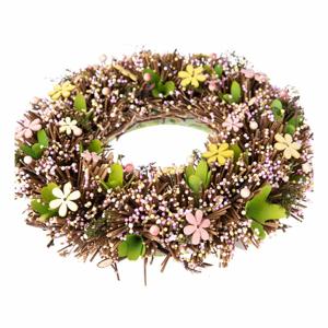 Závesný veniec s umelými kvetmi Dakls mismo, ⌀ 32 cm
