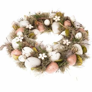 Závesný veniec s vajíčkami Dakls Luno, ⌀ 31 cm