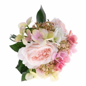 Umelá dekoratívna kytica hortenzií a ruže Dakls Puli