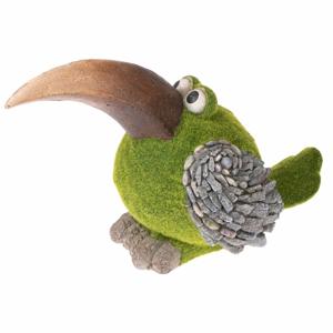 Zelená záhradné dekorácia v tvare vtáka Dakls