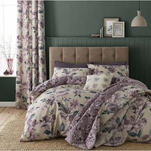 Prešívaný pléd cez posteľ Catherine Lansfield Florecitou, 220 x 230 cm