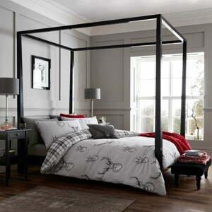 Sivé posteľné obliečky Catherine Lansfield Stag, 135 x 200 cm