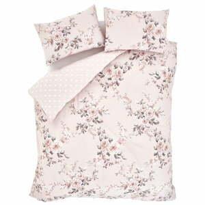 Ružové posteľné obliečky Catherine Lansfield Rosalia, 135 x 200 cm