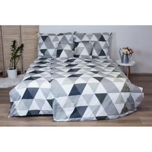 Sivé bavlnené posteľné obliečky Cotton House Trion, 140x200 cm