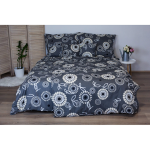 Sivé bavlnené posteľné obliečky Cotton House Elisa, 140x200 cm