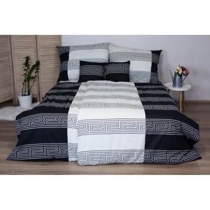 Čiernobiele bavlnené posteľné obliečky Cotton House Harmony, 140x200 cm