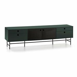 Čierno-zelený televízny stolík Teulat Punto