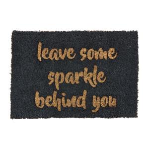 Rohožka z prírodného kokosového vlákna Artsy Doormats Leave Some Sparkle, 40 x 60 cm