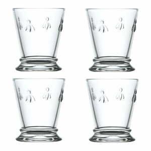 Sada 4 sklenených pohárov La Rocher Abeille mismo